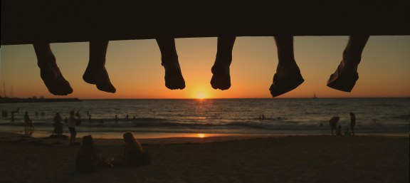 Sunset feet